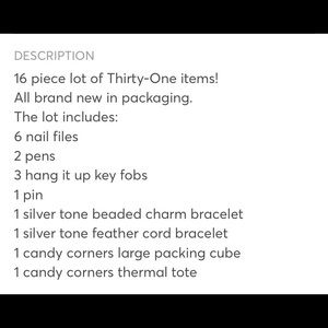thirty-one Accessories - 16 piece Thirty- One lot